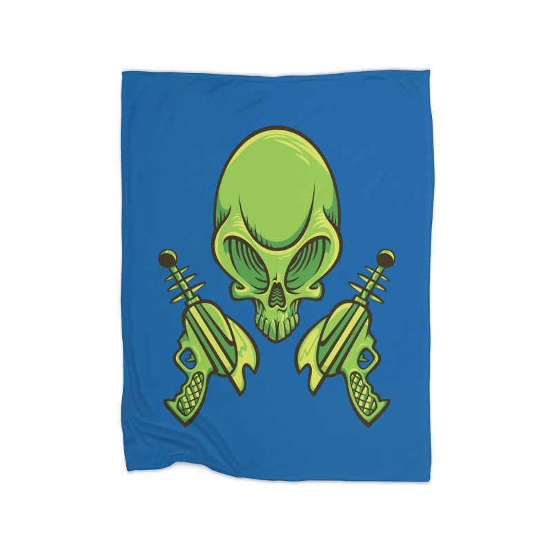 Alien Skull Home Blanket by bennygraphix's Artist Shop