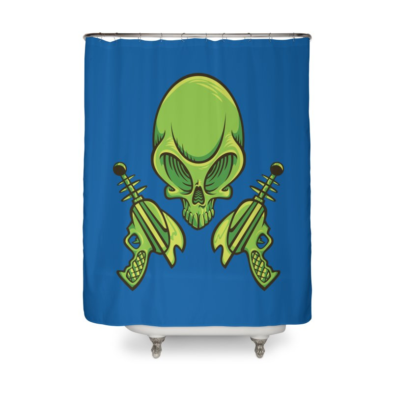 Alien Skull Home Shower Curtain by bennygraphix's Artist Shop