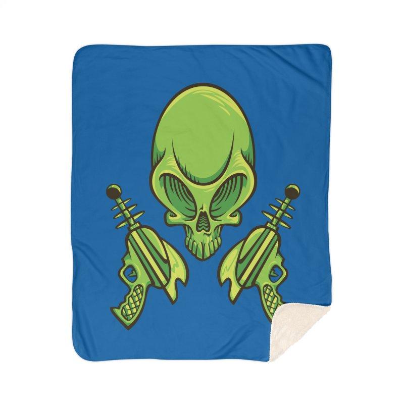 Alien Skull Home Sherpa Blanket Blanket by bennygraphix's Artist Shop