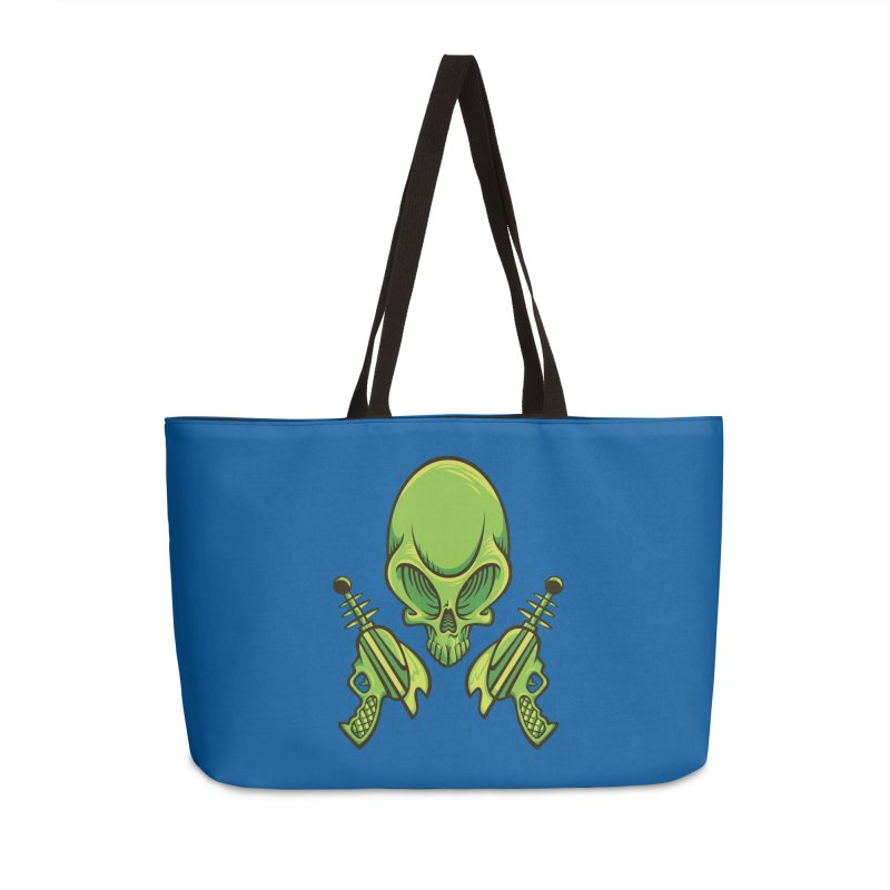 Alien Skull Accessories Weekender Bag Bag by bennygraphix's Artist Shop