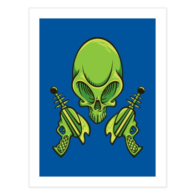 Alien Skull Home Fine Art Print by bennygraphix's Artist Shop