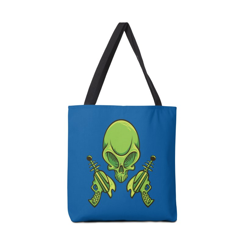 Alien Skull Accessories Tote Bag Bag by bennygraphix's Artist Shop
