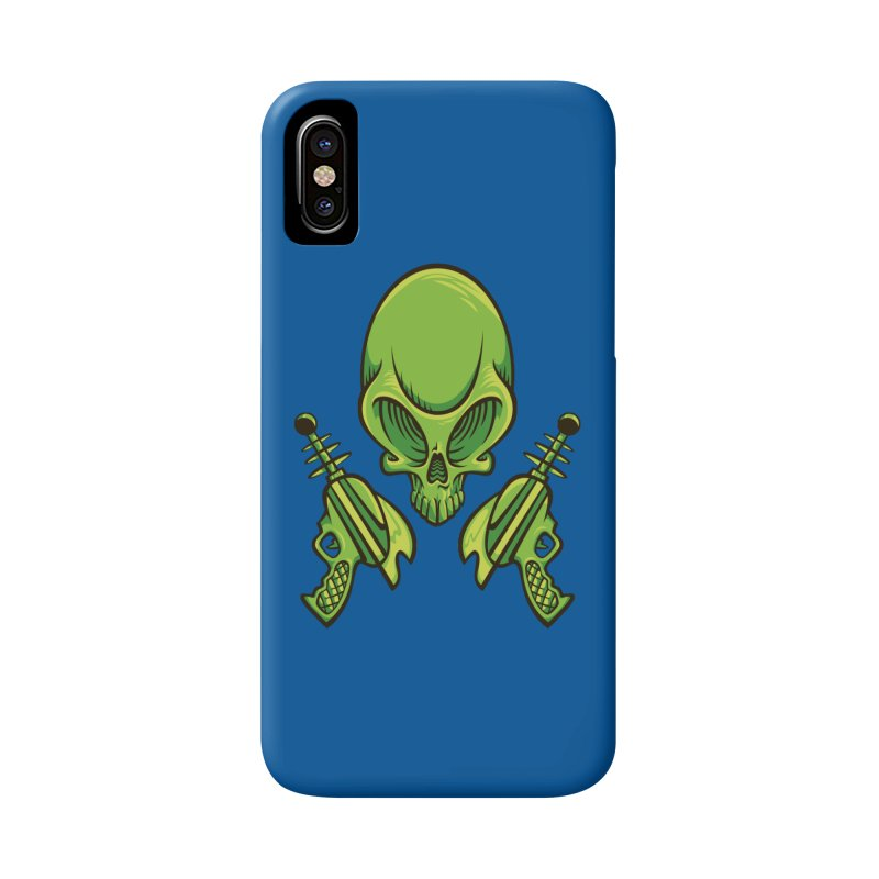 Alien Skull Accessories Phone Case by bennygraphix's Artist Shop