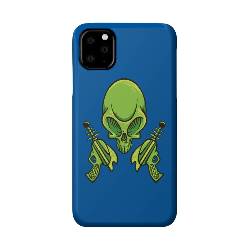 Alien Skull Accessories Phone Case by bennygraphix's Artist Shop