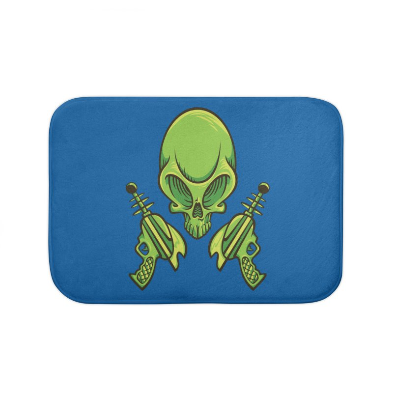 Alien Skull Home Bath Mat by bennygraphix's Artist Shop