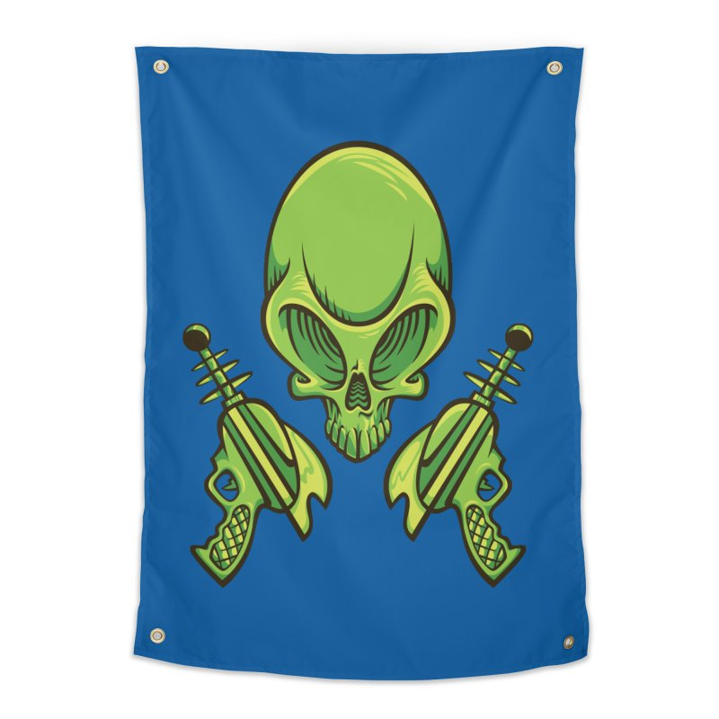 Alien Skull Home Tapestry by bennygraphix's Artist Shop