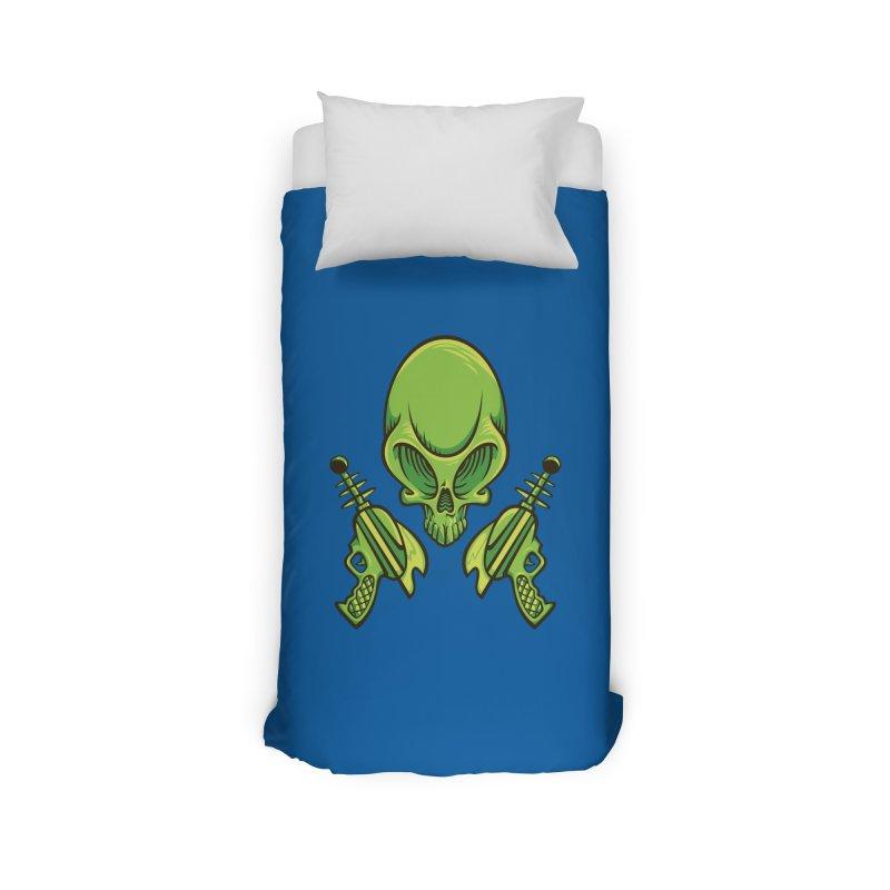 Alien Skull Home Duvet by bennygraphix's Artist Shop