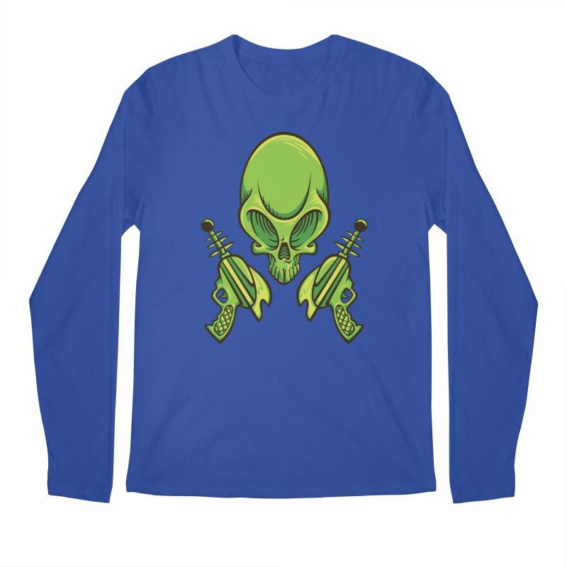 Alien Skull Men's Regular Longsleeve T-Shirt by bennygraphix's Artist Shop