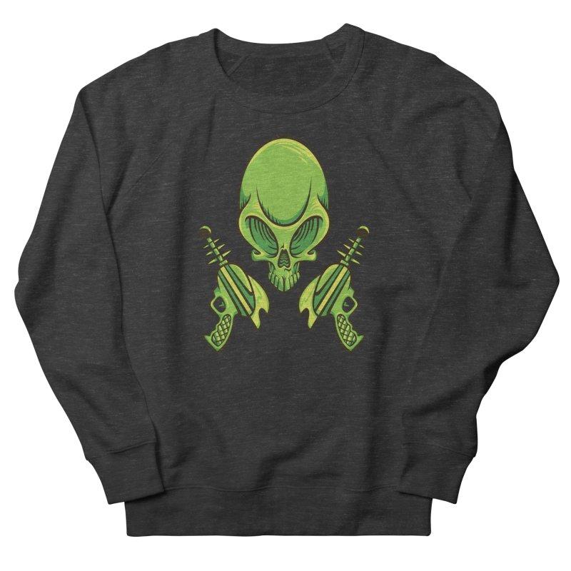 Alien Skull Women's French Terry Sweatshirt by bennygraphix's Artist Shop
