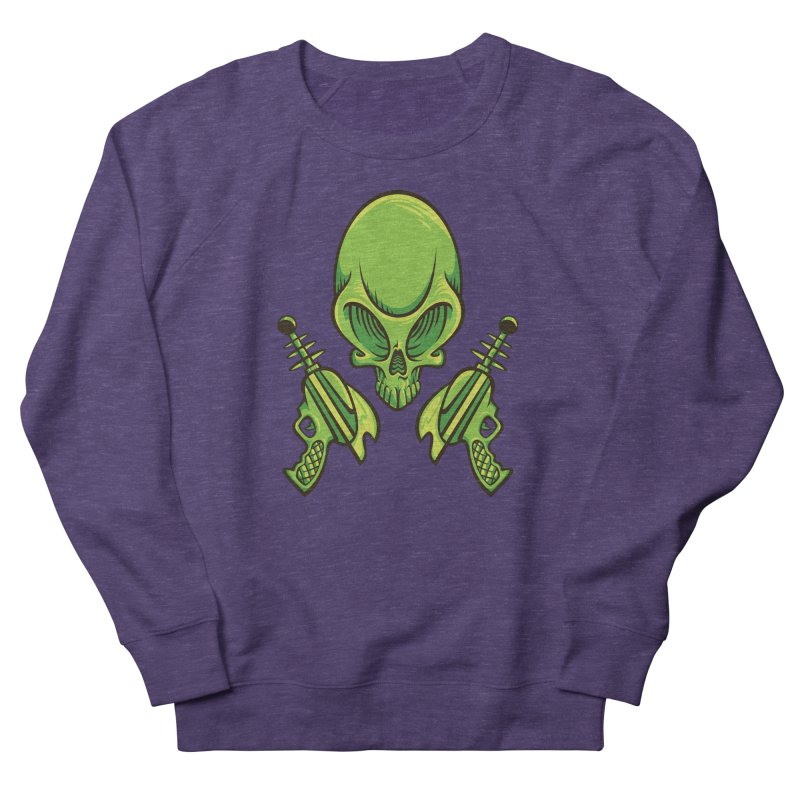 Alien Skull Men's French Terry Sweatshirt by bennygraphix's Artist Shop
