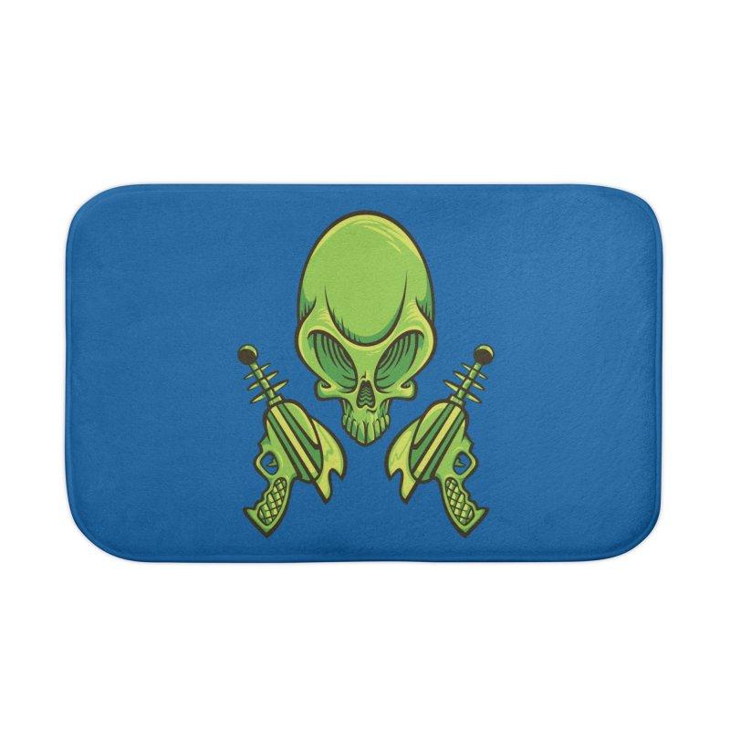 Alien Skull Home Bath Mat by bennygraphix's Artist Shop