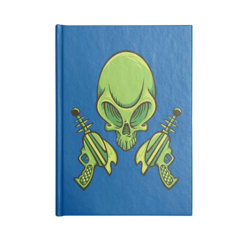 Alien Skull Accessories Lined Journal Notebook by bennygraphix's Artist Shop