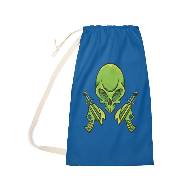 Alien Skull Accessories Laundry Bag Bag by bennygraphix's Artist Shop