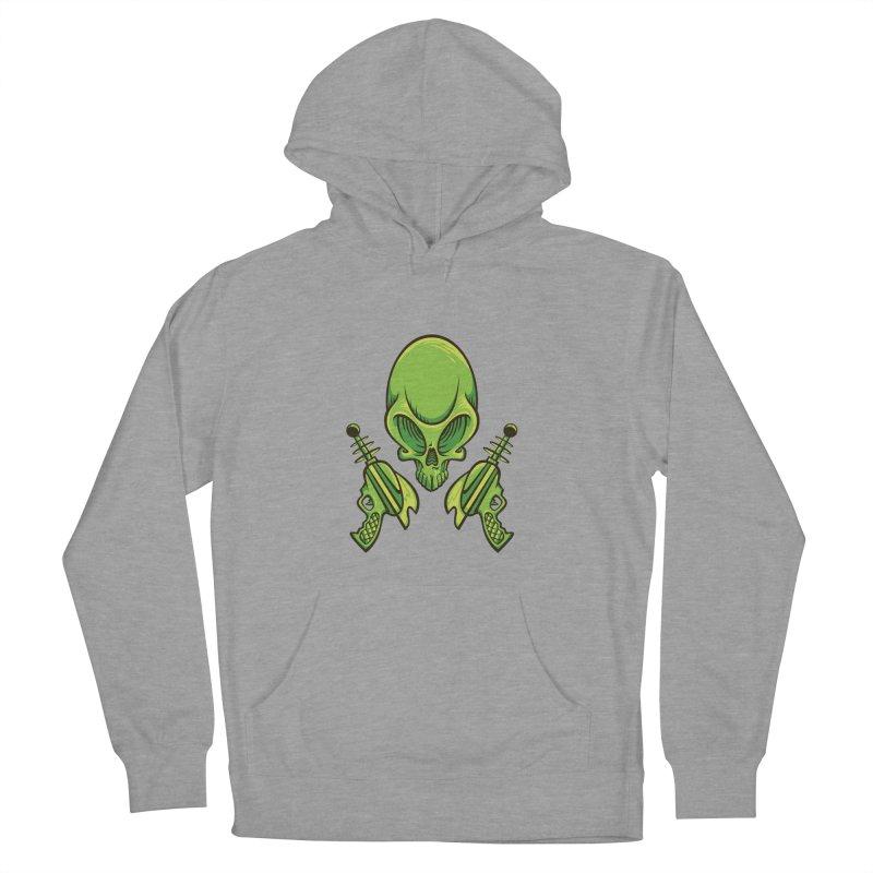 Alien Skull Women's Pullover Hoody by bennygraphix's Artist Shop