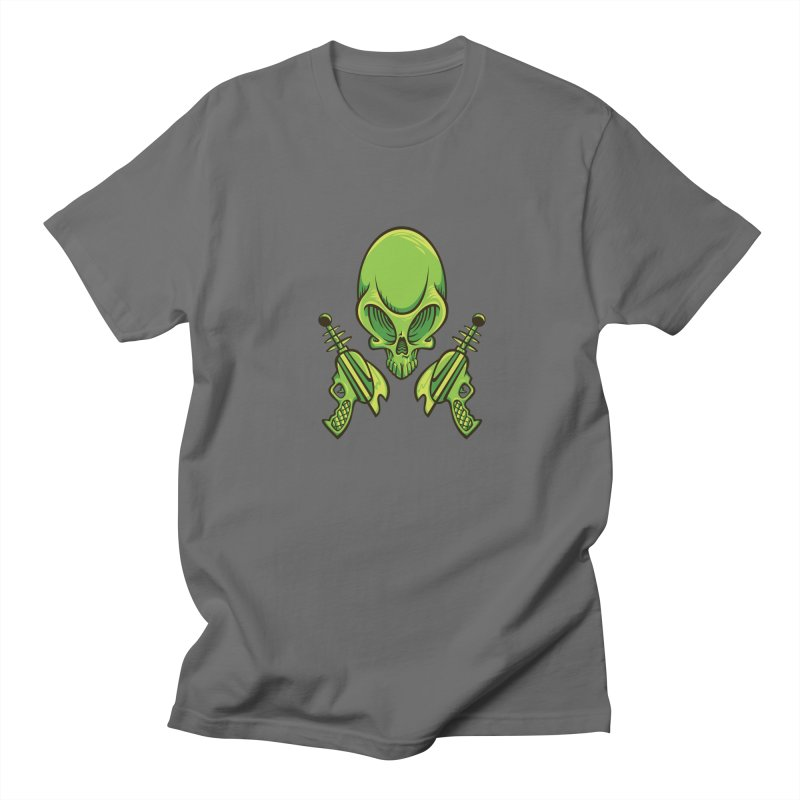 Alien Skull Men's T-Shirt by bennygraphix's Artist Shop