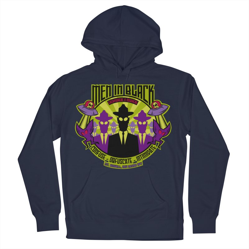 Men In Black Logo Women's French Terry Pullover Hoody by bennygraphix's Artist Shop