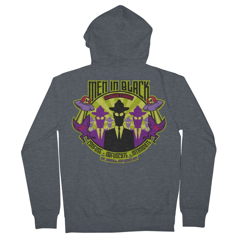 Men In Black Logo Women's Zip-Up Hoody by bennygraphix's Artist Shop