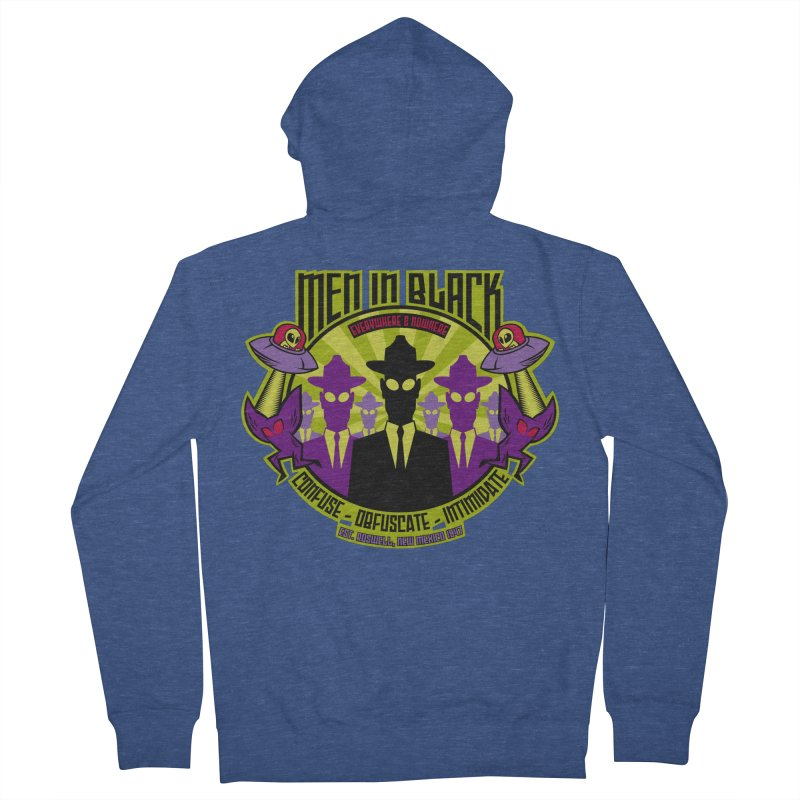 Men In Black Logo Men's Zip-Up Hoody by bennygraphix's Artist Shop
