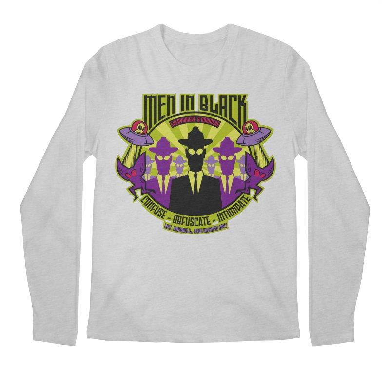 Men In Black Logo Men's Longsleeve T-Shirt by bennygraphix's Artist Shop