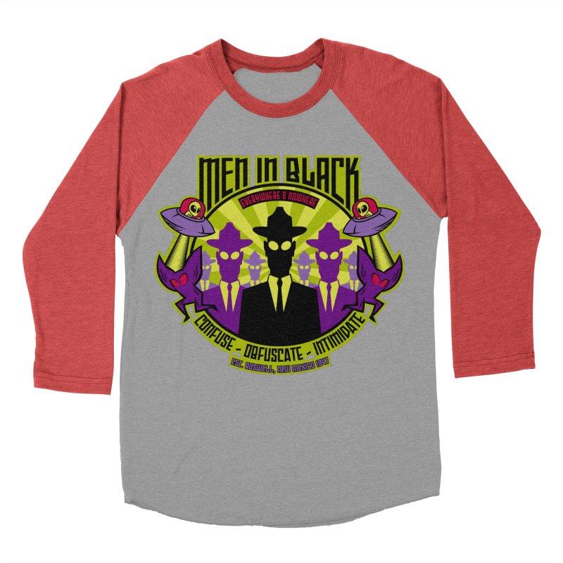 Men In Black Logo Men's Baseball Triblend Longsleeve T-Shirt by bennygraphix's Artist Shop
