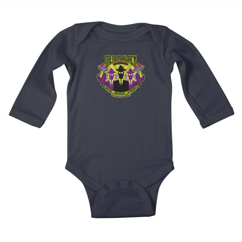 Men In Black Logo Kids Baby Longsleeve Bodysuit by bennygraphix's Artist Shop