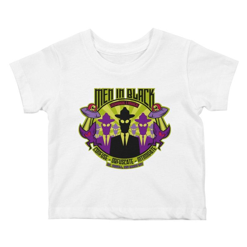 Men In Black Logo Kids Baby T-Shirt by bennygraphix's Artist Shop