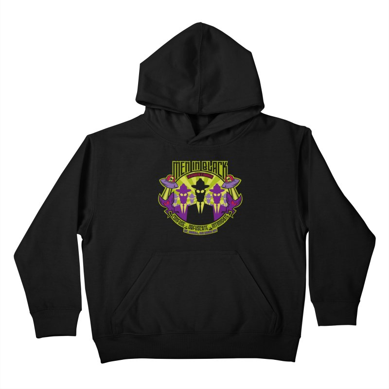 Men In Black Logo Kids Pullover Hoody by bennygraphix's Artist Shop