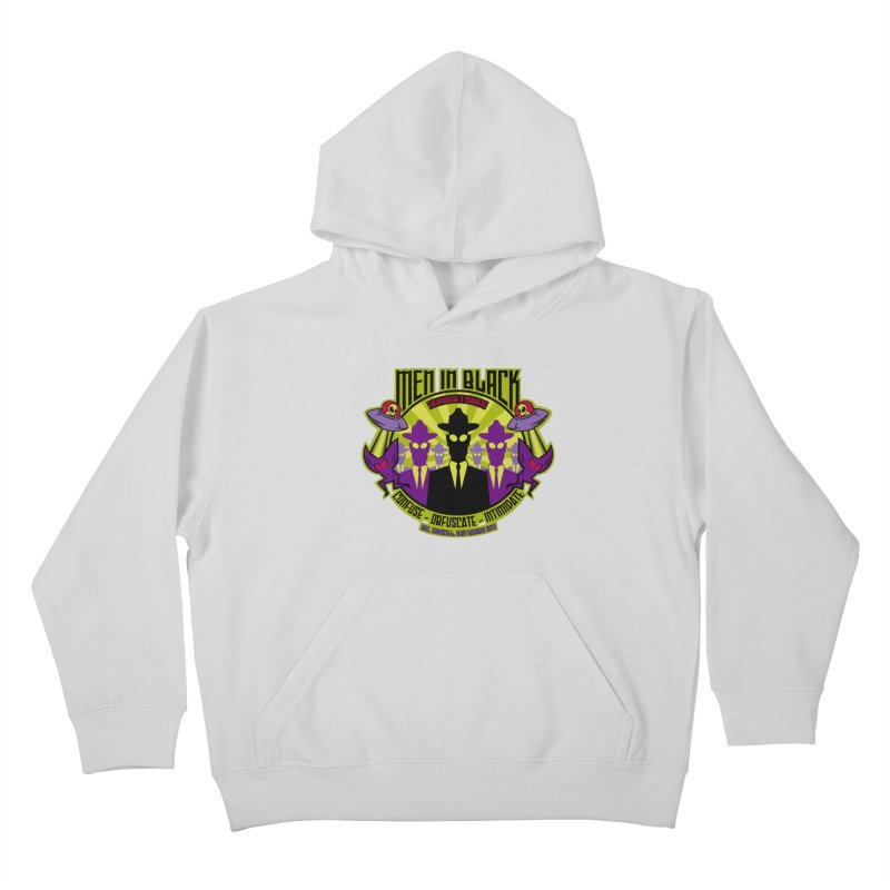 Men In Black Logo Kids Pullover Hoody by bennygraphix's Artist Shop