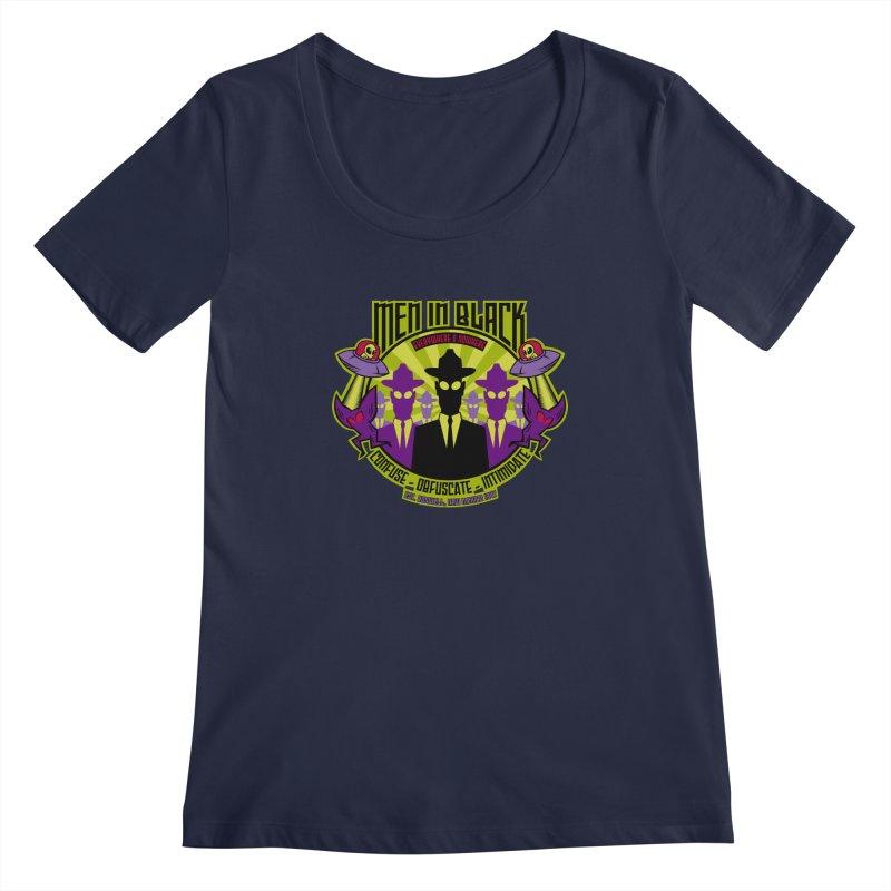 Men In Black Logo Women's Scoopneck by bennygraphix's Artist Shop