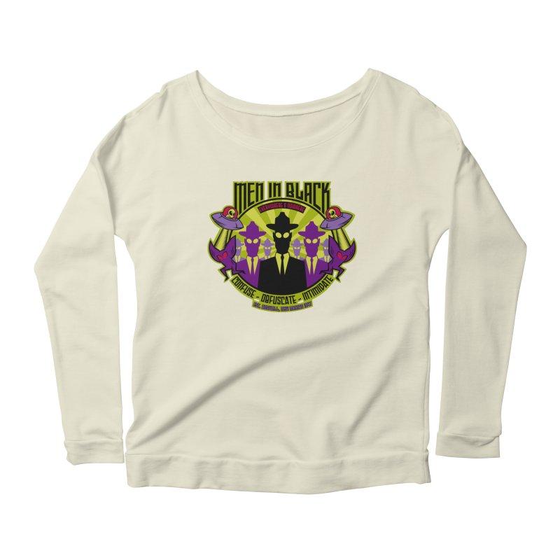 Men In Black Logo Women's Scoop Neck Longsleeve T-Shirt by bennygraphix's Artist Shop