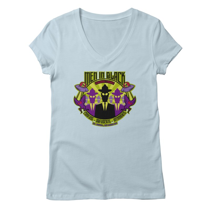 Men In Black Logo Women's Regular V-Neck by bennygraphix's Artist Shop