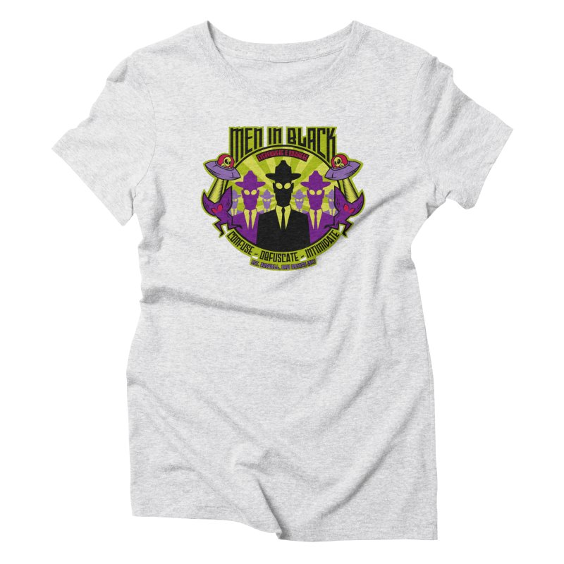 Men In Black Logo Women's Triblend T-Shirt by bennygraphix's Artist Shop