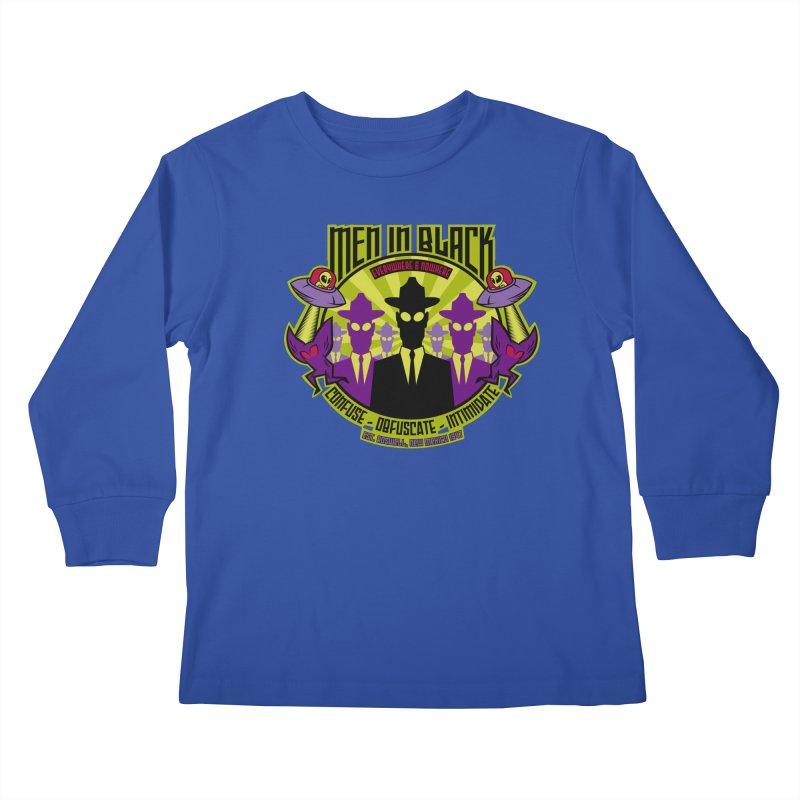 Men In Black Logo Kids Longsleeve T-Shirt by bennygraphix's Artist Shop