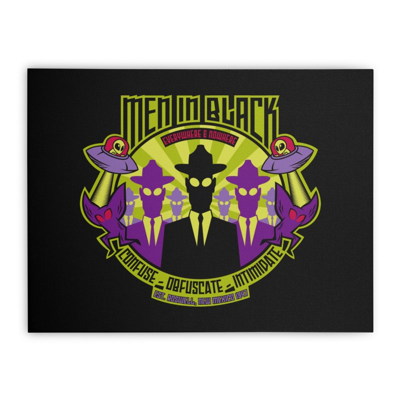 Men In Black Logo Home Stretched Canvas by bennygraphix's Artist Shop