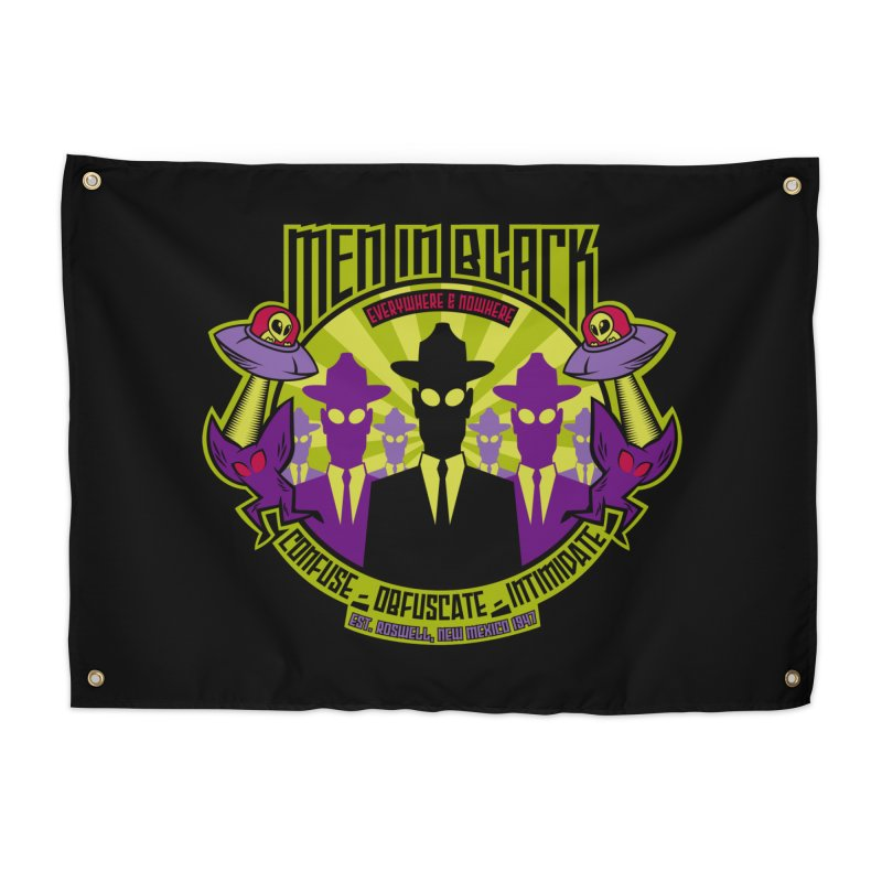 Men In Black Logo Home Tapestry by bennygraphix's Artist Shop