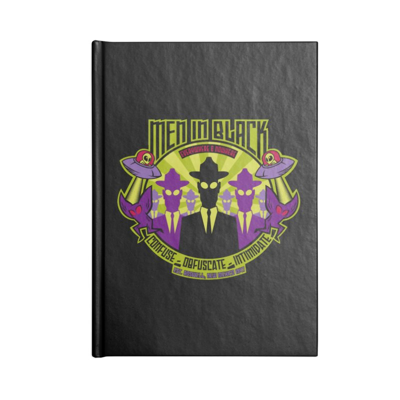 Men In Black Logo Accessories Notebook by bennygraphix's Artist Shop