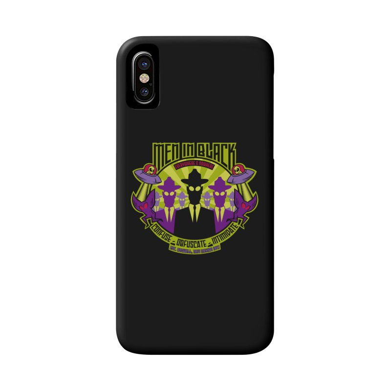 Men In Black Logo Accessories Phone Case by bennygraphix's Artist Shop
