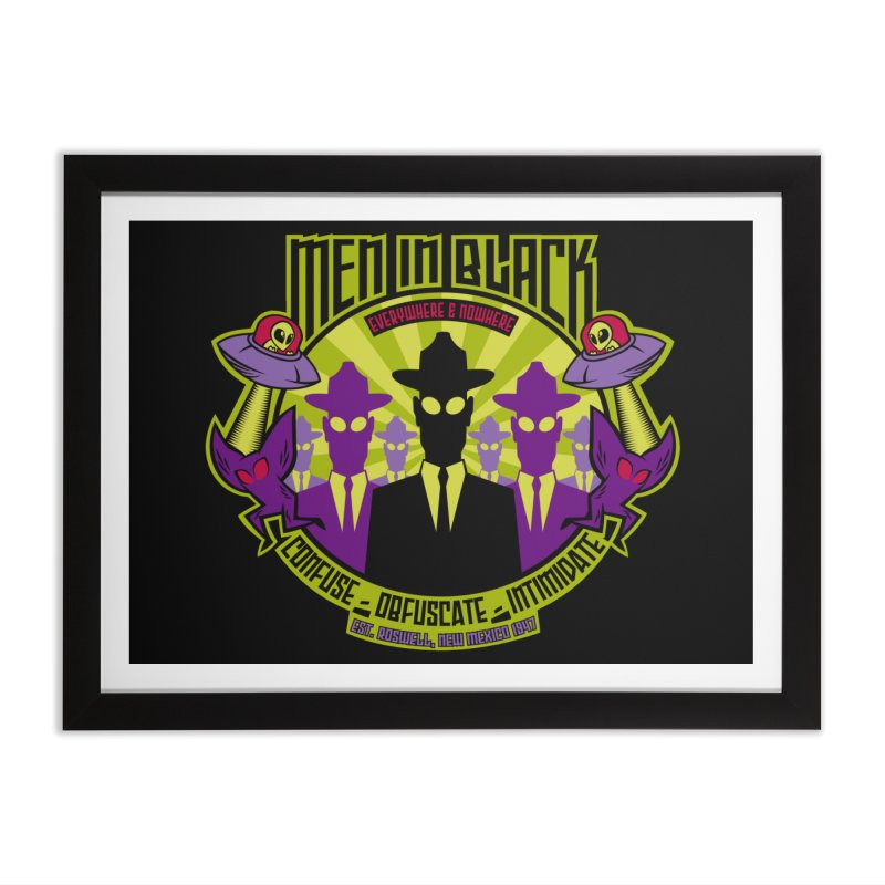 Men In Black Logo Home Framed Fine Art Print by bennygraphix's Artist Shop