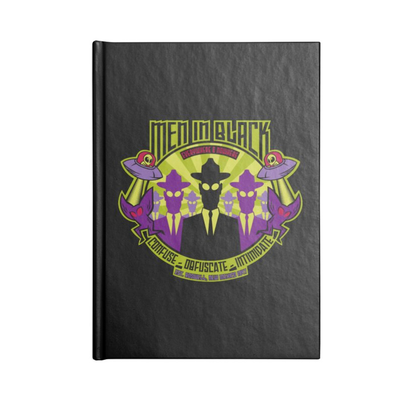 Men In Black Logo Accessories Lined Journal Notebook by bennygraphix's Artist Shop
