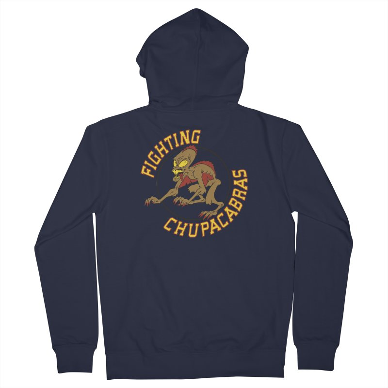 Fighting Chupacabras Men's Zip-Up Hoody by bennygraphix's Artist Shop