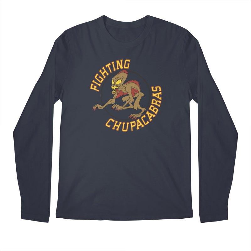 Fighting Chupacabras Men's Longsleeve T-Shirt by bennygraphix's Artist Shop