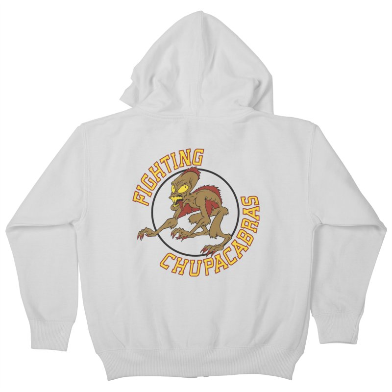 Fighting Chupacabras Kids Zip-Up Hoody by bennygraphix's Artist Shop