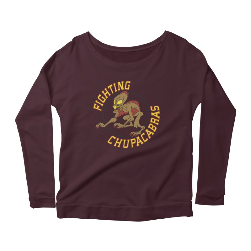 Fighting Chupacabras Women's Longsleeve Scoopneck  by bennygraphix's Artist Shop