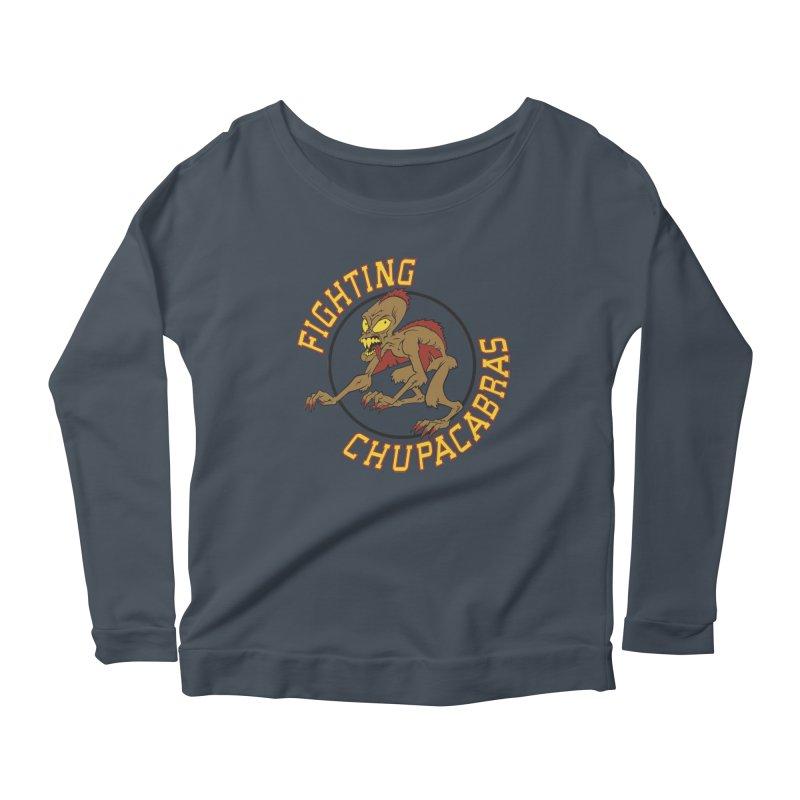 Fighting Chupacabras Women's Scoop Neck Longsleeve T-Shirt by bennygraphix's Artist Shop