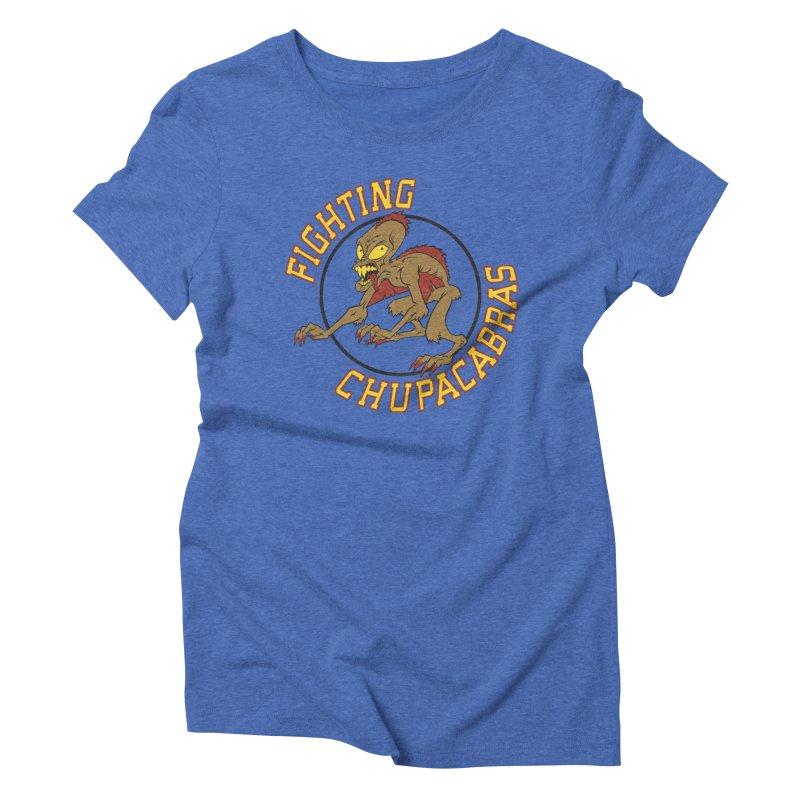 Fighting Chupacabras Women's Triblend T-shirt by bennygraphix's Artist Shop