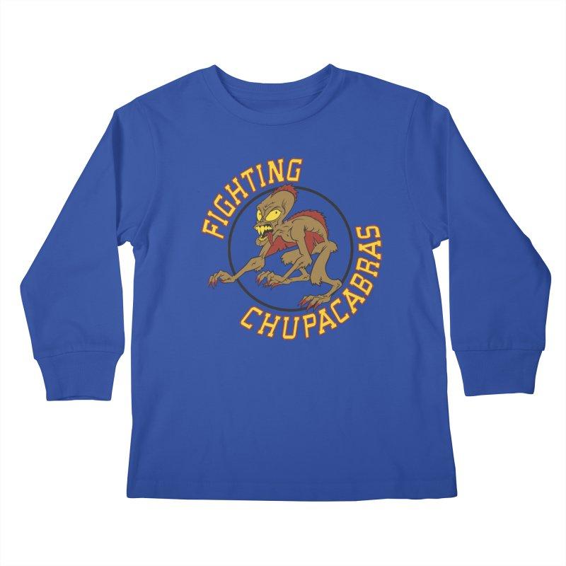 Fighting Chupacabras Kids Longsleeve T-Shirt by bennygraphix's Artist Shop