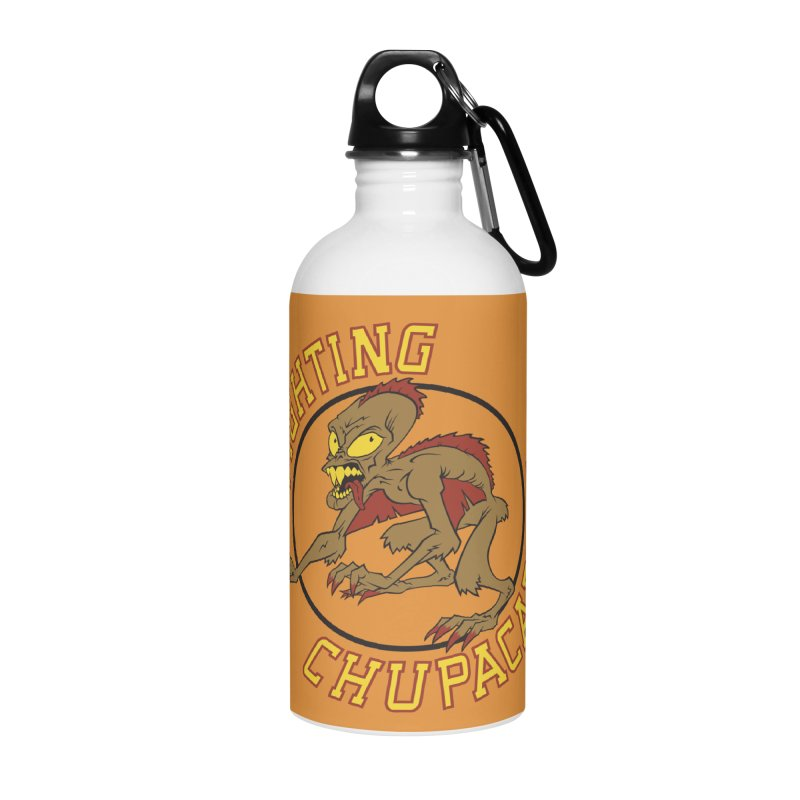 Fighting Chupacabras Accessories Water Bottle by bennygraphix's Artist Shop