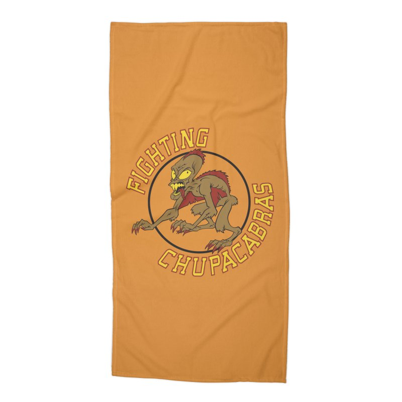 Fighting Chupacabras Accessories Beach Towel by bennygraphix's Artist Shop