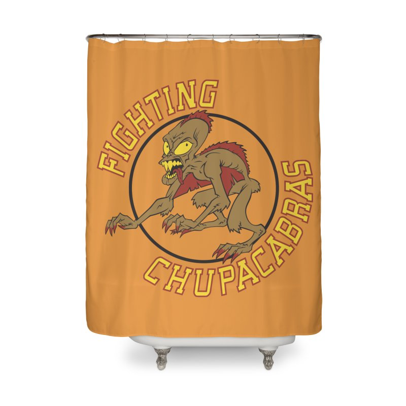 Fighting Chupacabras Home Shower Curtain by bennygraphix's Artist Shop