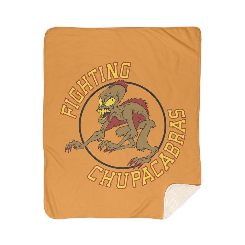Fighting Chupacabras Home Sherpa Blanket Blanket by bennygraphix's Artist Shop